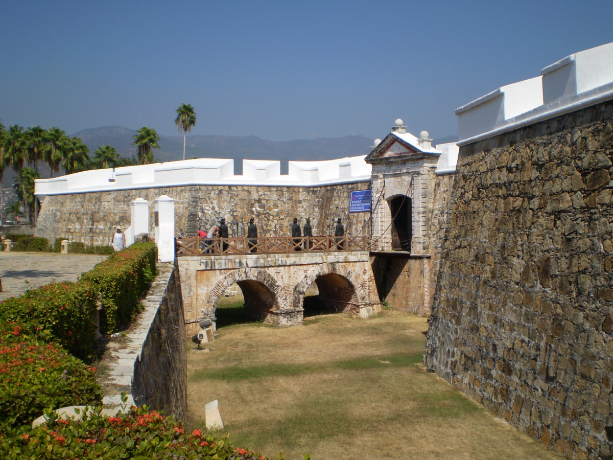 The Fuerto de San Diego in Acapulco, Mexico guarded the port and its lucrative trade to and from Manila across the Pacific.