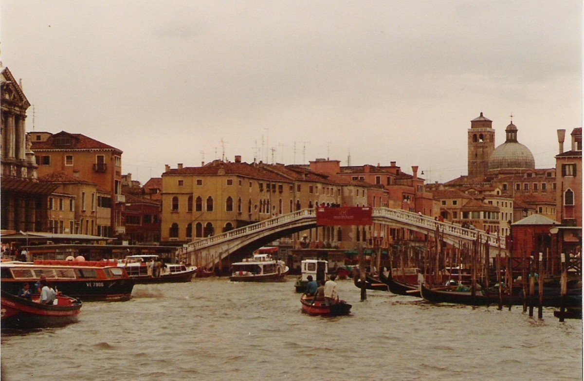 Venice's Grand Canal.  It was Venice that monopolized the spice trade before it was broken by Portugal and Spain.
