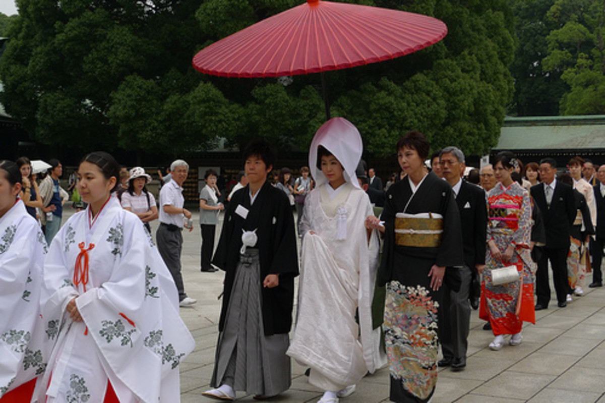 Traditional Japanese wedding ceremony