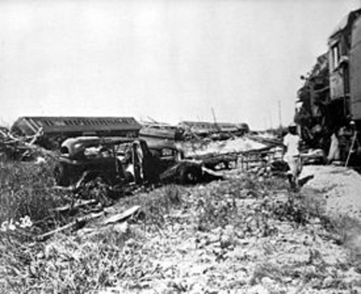 Rescue Train wrecked in Labor Day Hurricane of 1935 photo from Florida Photographic Collection