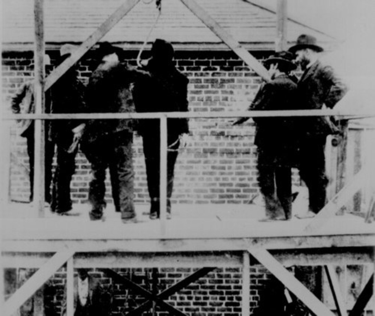 Judge Isaac Parker - The Hanging Judge: A Criminal being prepared for execution