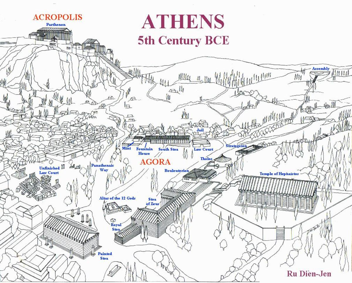 A map of Ancient Athens