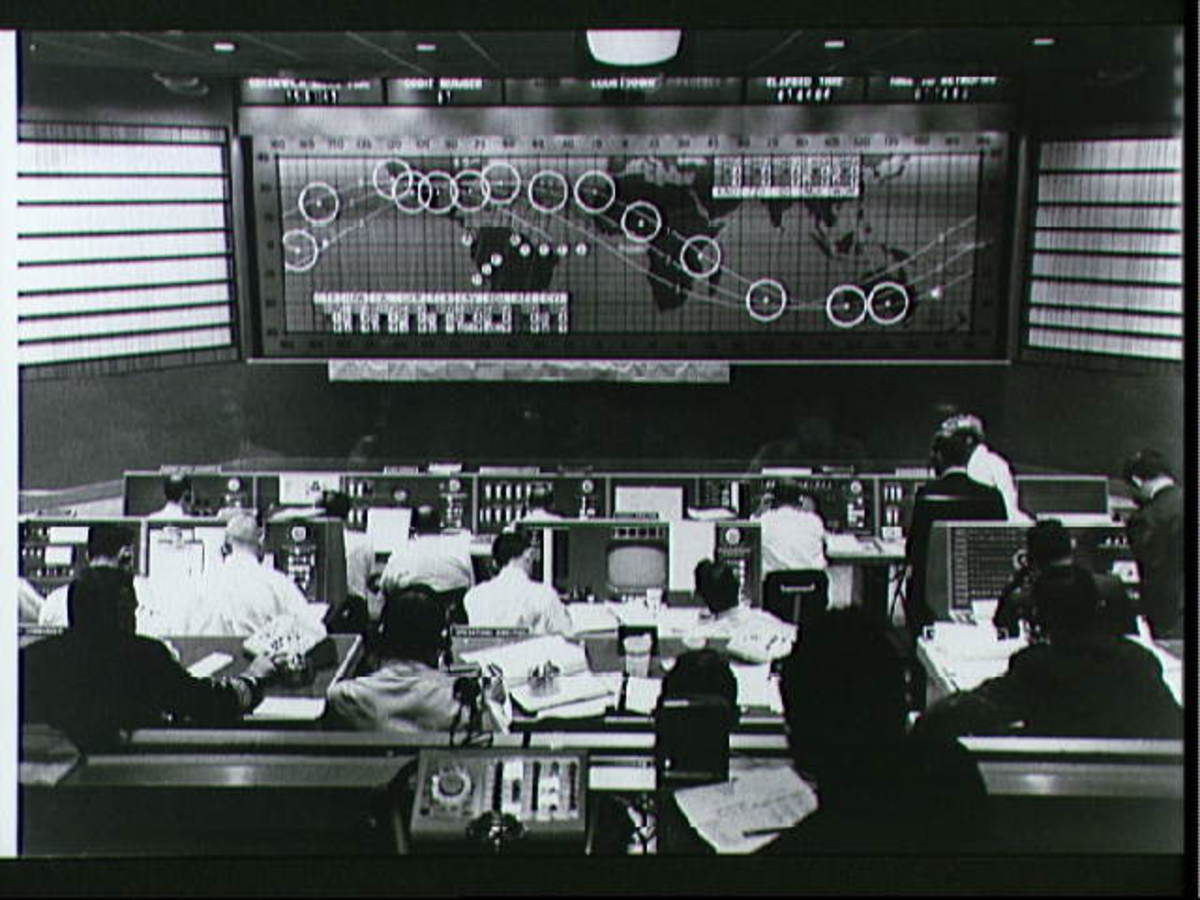 Mission Control tracks the flight of Freedom 7. Photo courtesy of NASA.