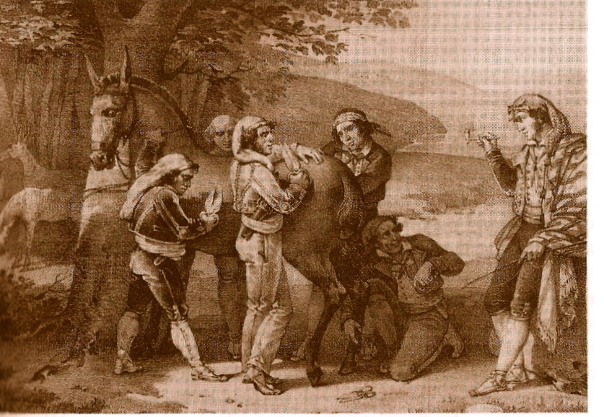 GYPSY MULE CLIPPERS IN SPAIN (LITHOGRAPH BY VILLAIN)