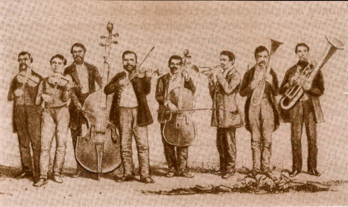 FERENC BUNKO'S BAND 1854 (DRAWING BY VARSANYI)