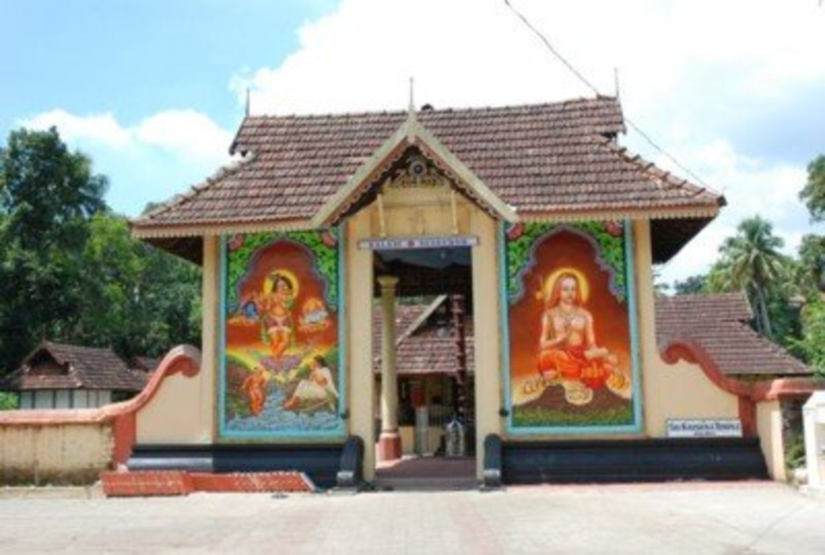 Sri Krishna Temple at Kalady, Kerala, India