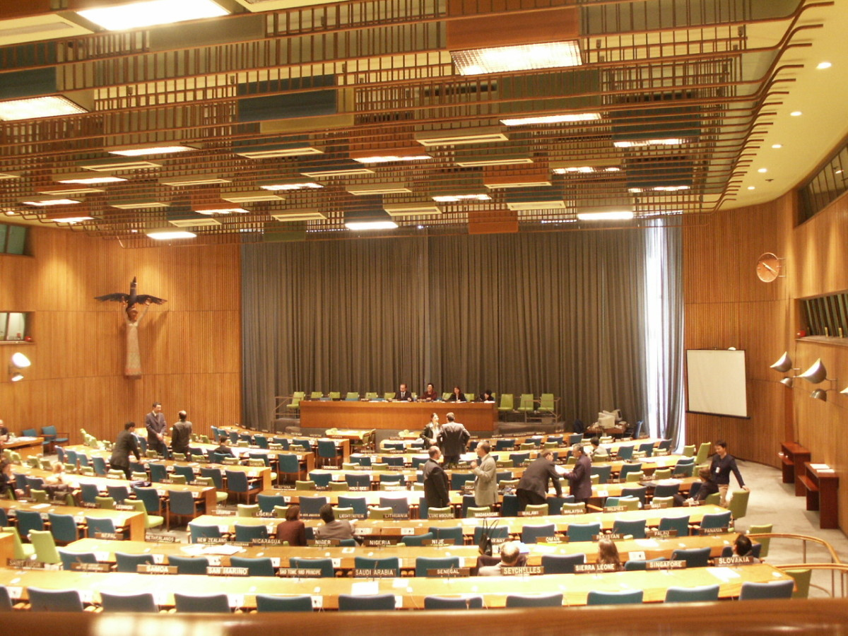 The chamber of the UN Trusteeship Council, UN headquarters, New York, U.S.A