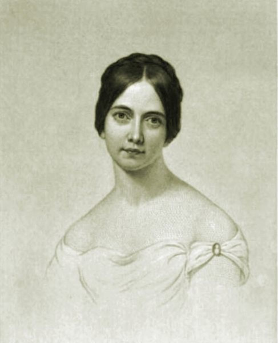Engraving of Frances Osgood from her 1850 collection of poetry