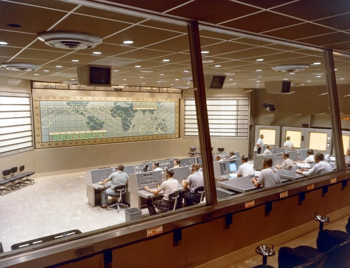 Mercury Mission Control prior to the launch of Sigma 7. Photo courtesy of NASA.