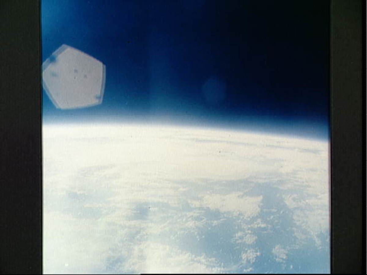 Photo of earth taken by Wally Schirra from orbit. Photo courtesy of NASA.