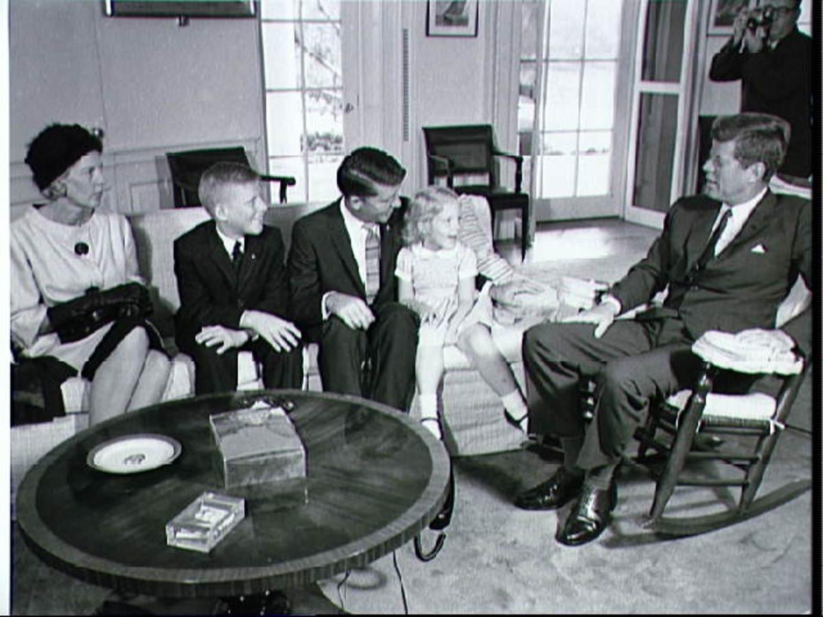 Wally Schirra and family meet President Kennedy following the Sigma 7 flight. Photo courtesy of NASA.