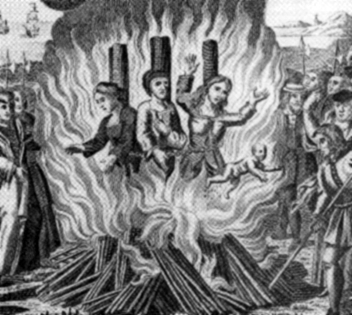 Many women were burned alive, when they suspected them of witchcraft.