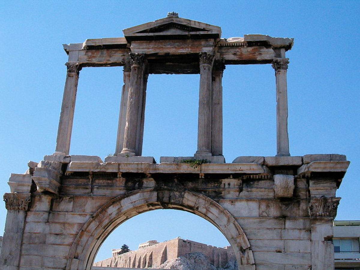 Hadrian's arch. Athens