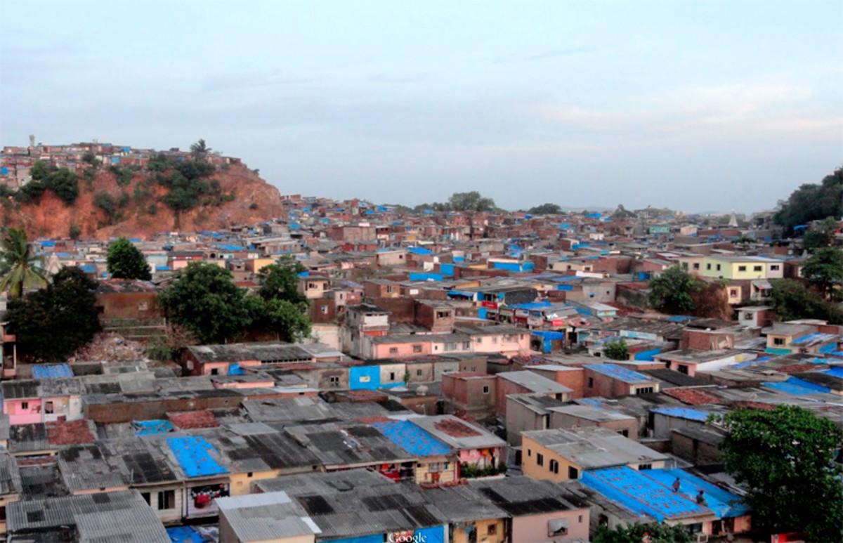 More slums in Bombay (Mumbai) India.