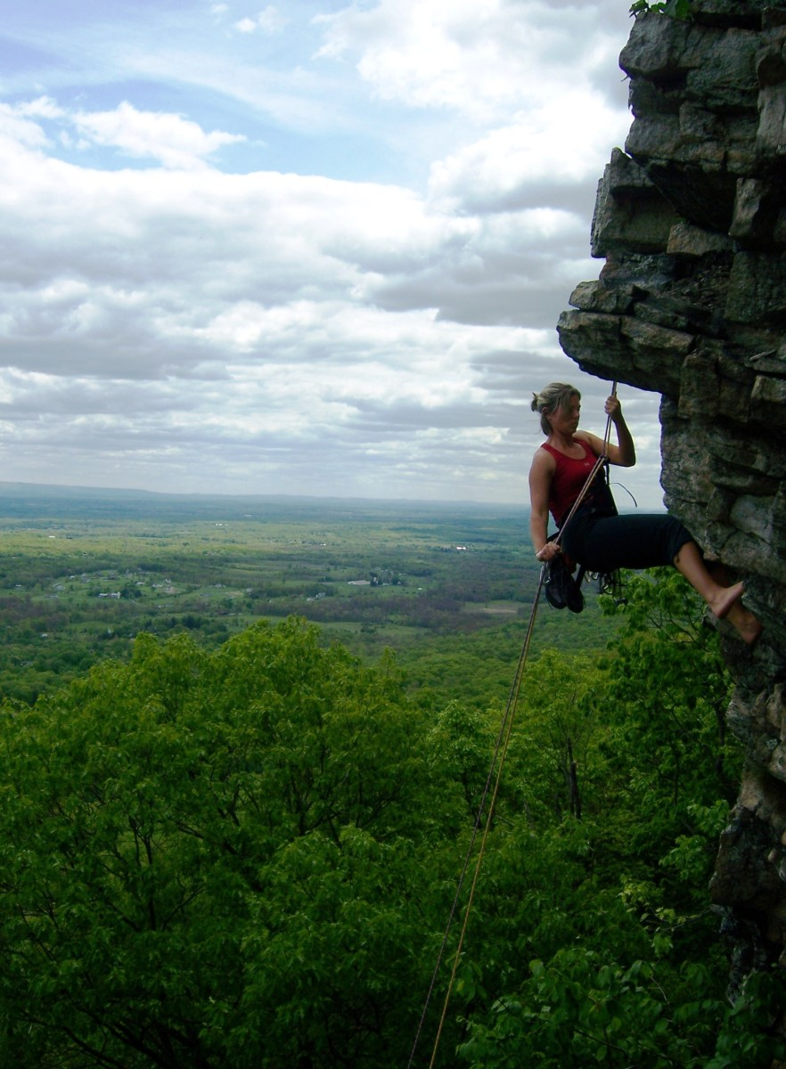 This is what rappelling looks like.