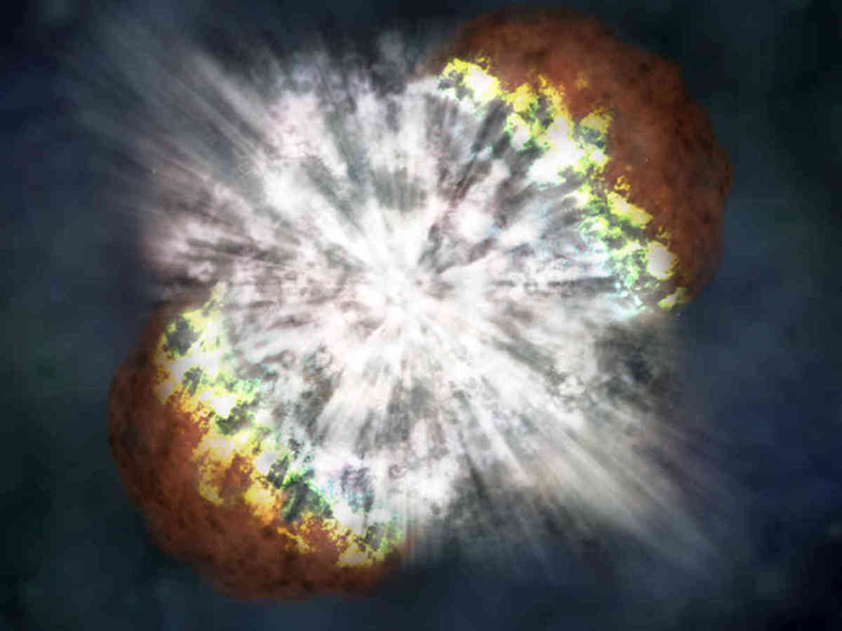 An artist's concept of a supernova