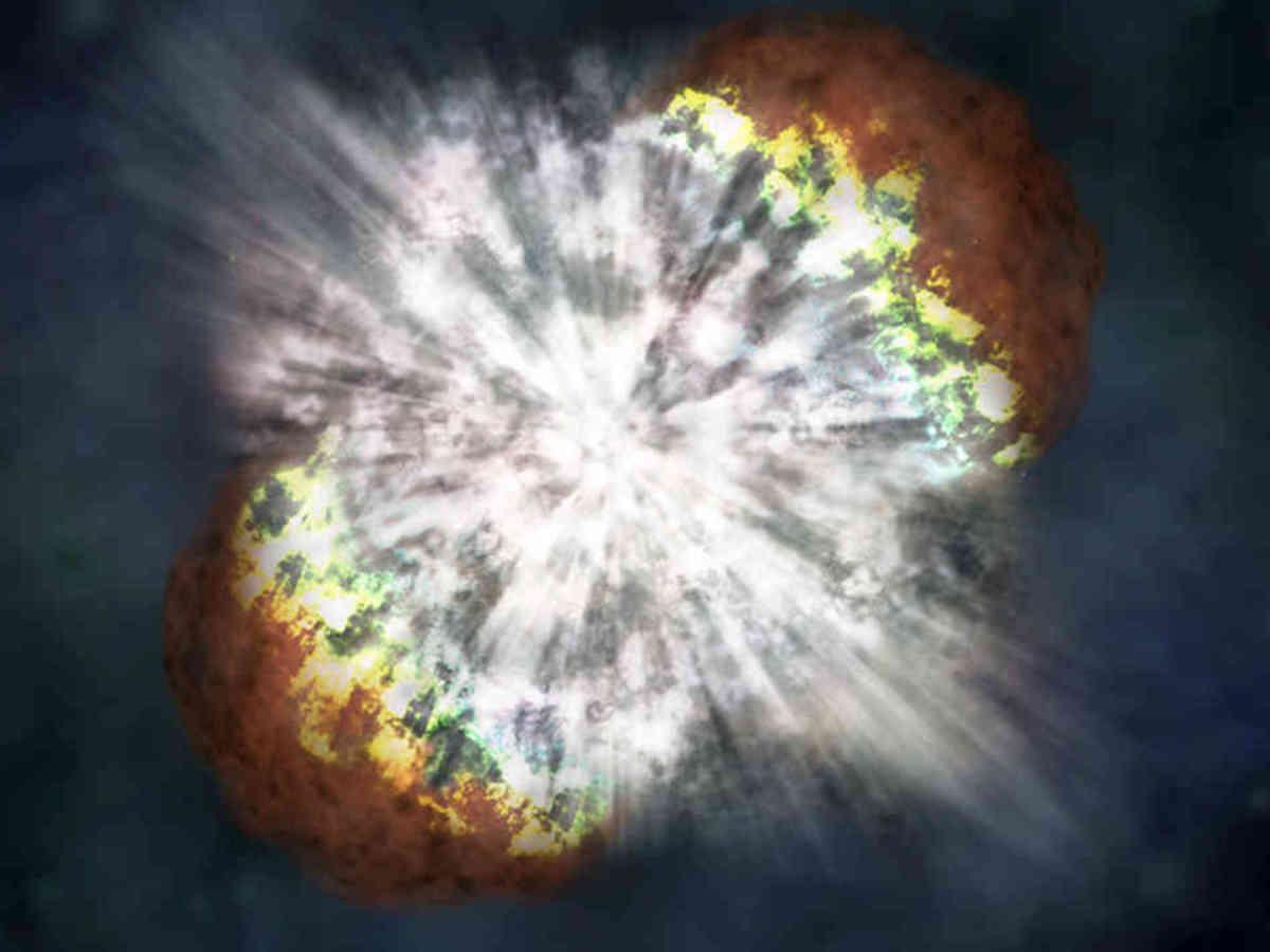 An artist's concept of a supernova