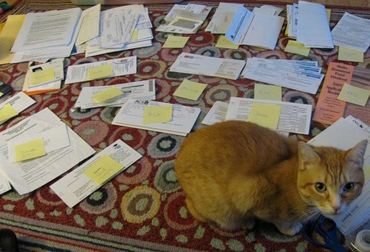 Don't stress out about getting filing done every day. Maximize the opportunities that you do have. If you're working at home, maybe your pet will cheer you on through the process.