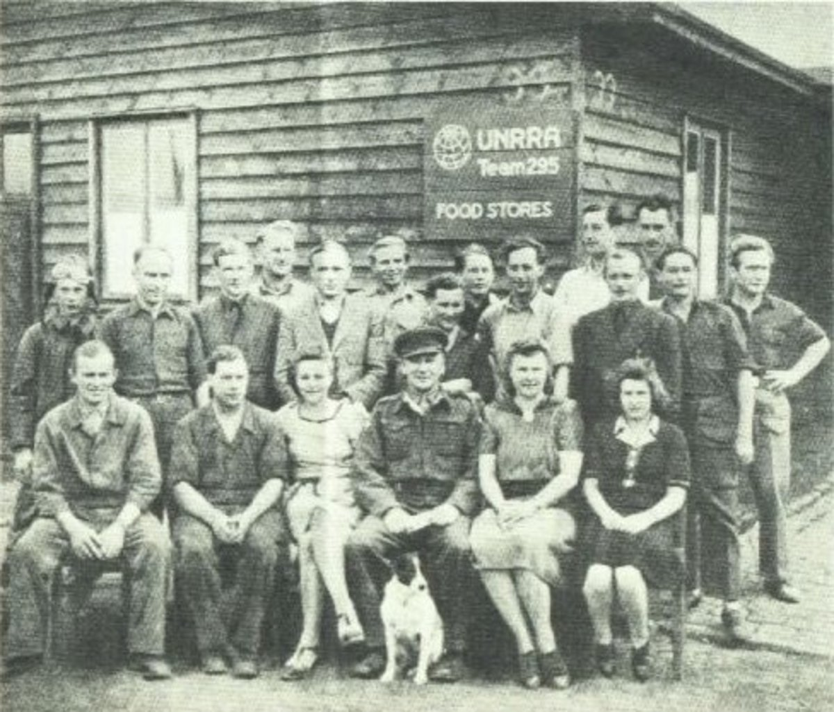 UNRRA Food Stores employees at the Lithuanian DP camp in Seedorf.