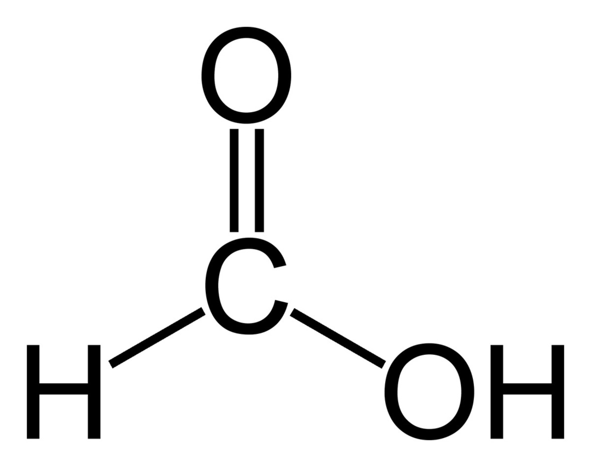 Formic acid structural formula