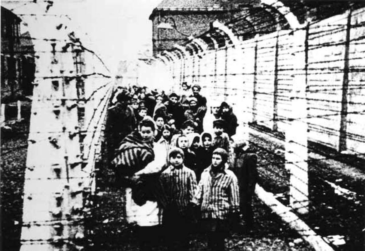 Liberation of Auschwitz prisoners by Allied troops.