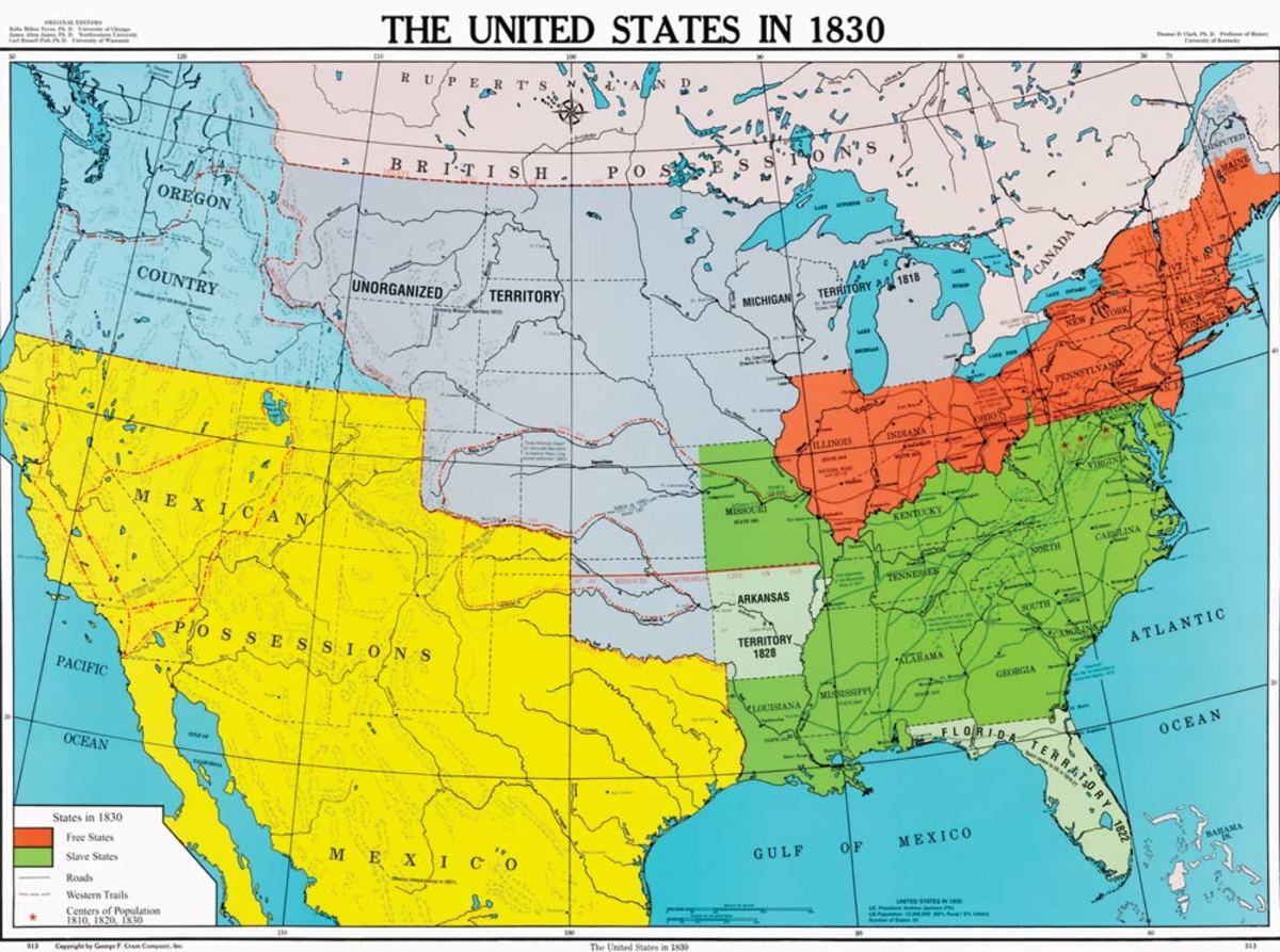 UNITED STATES MAP 1830