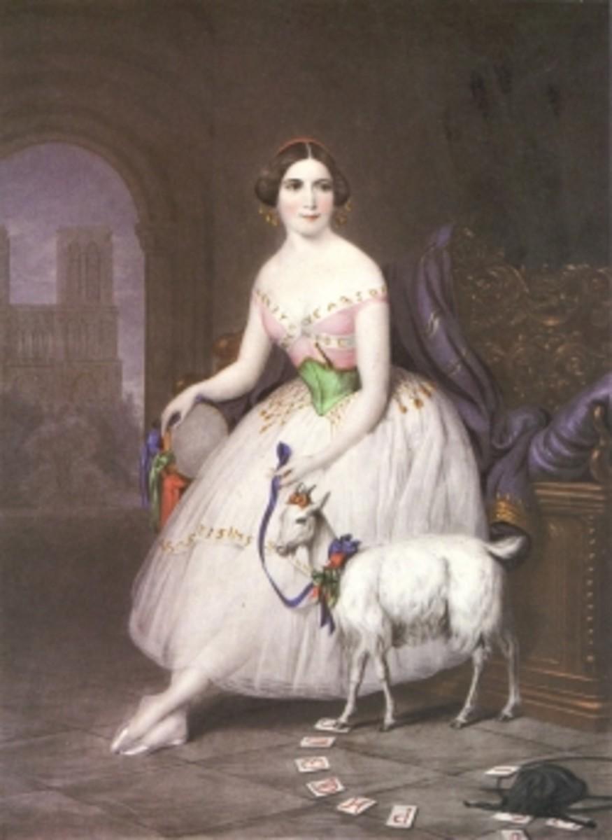 Fanny Elssler as La Esmeralda, Berlin, circa 1845.