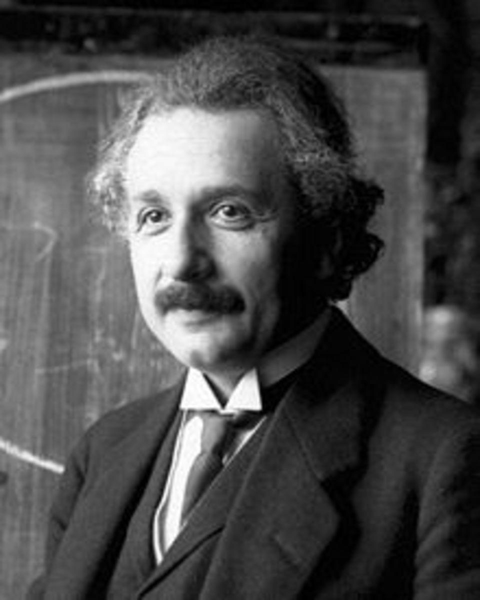 ALBERT EINSTEIN in 1921: 1879 - 1955