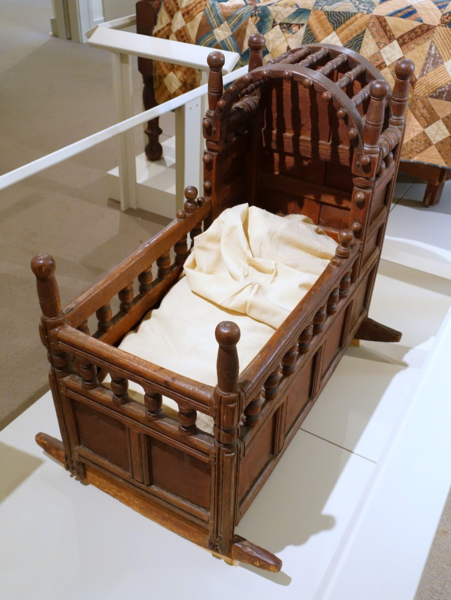 Baby's cradle, a common piece of furniture found in most Colonial era homes.