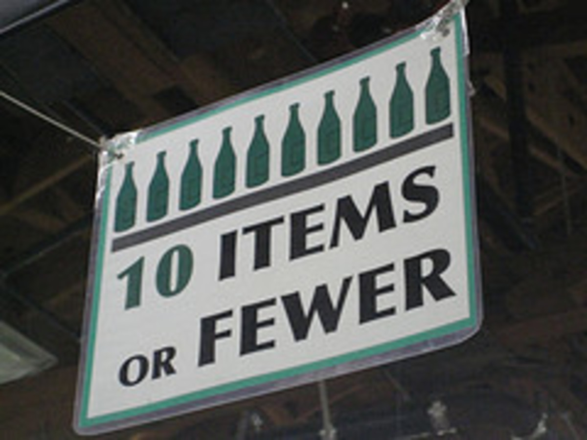 """Even on food labels, we see """"less calories"""" when it's actually """"fewer"""" calories. If we can count an item, it's """"fewer,"""" as in """"10 Items or Fewer."""""""