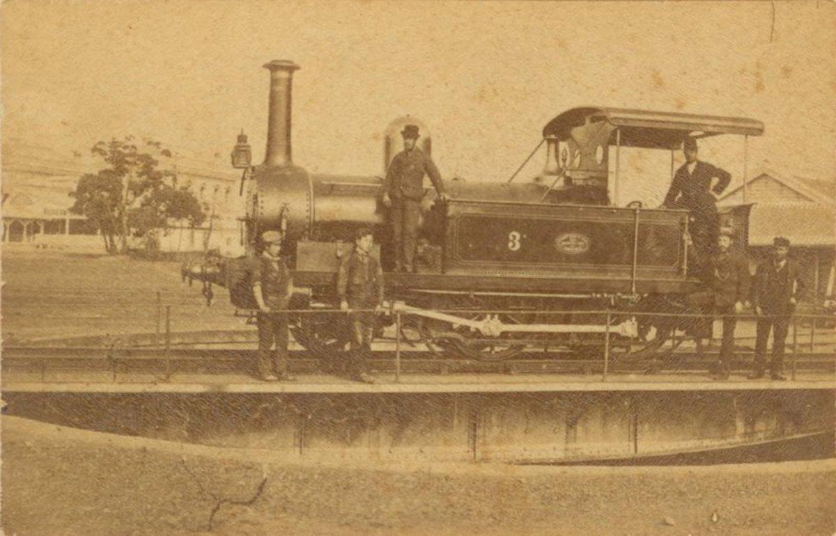 A Yorkshire Tank during the early Meiji Era. Early Japanese Railways 1853-1914: Engineering Triumphs That Transformed Meiji-era Japan by Dan Free, Tuttle Publishing, ISBN 978-4-8053-1006-9, www.tuttlepublishing.com, 1-800-526-2778.