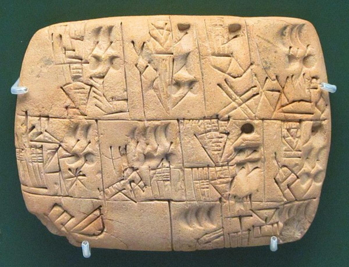 Sumerian writing tablet recording the allocation of beer.