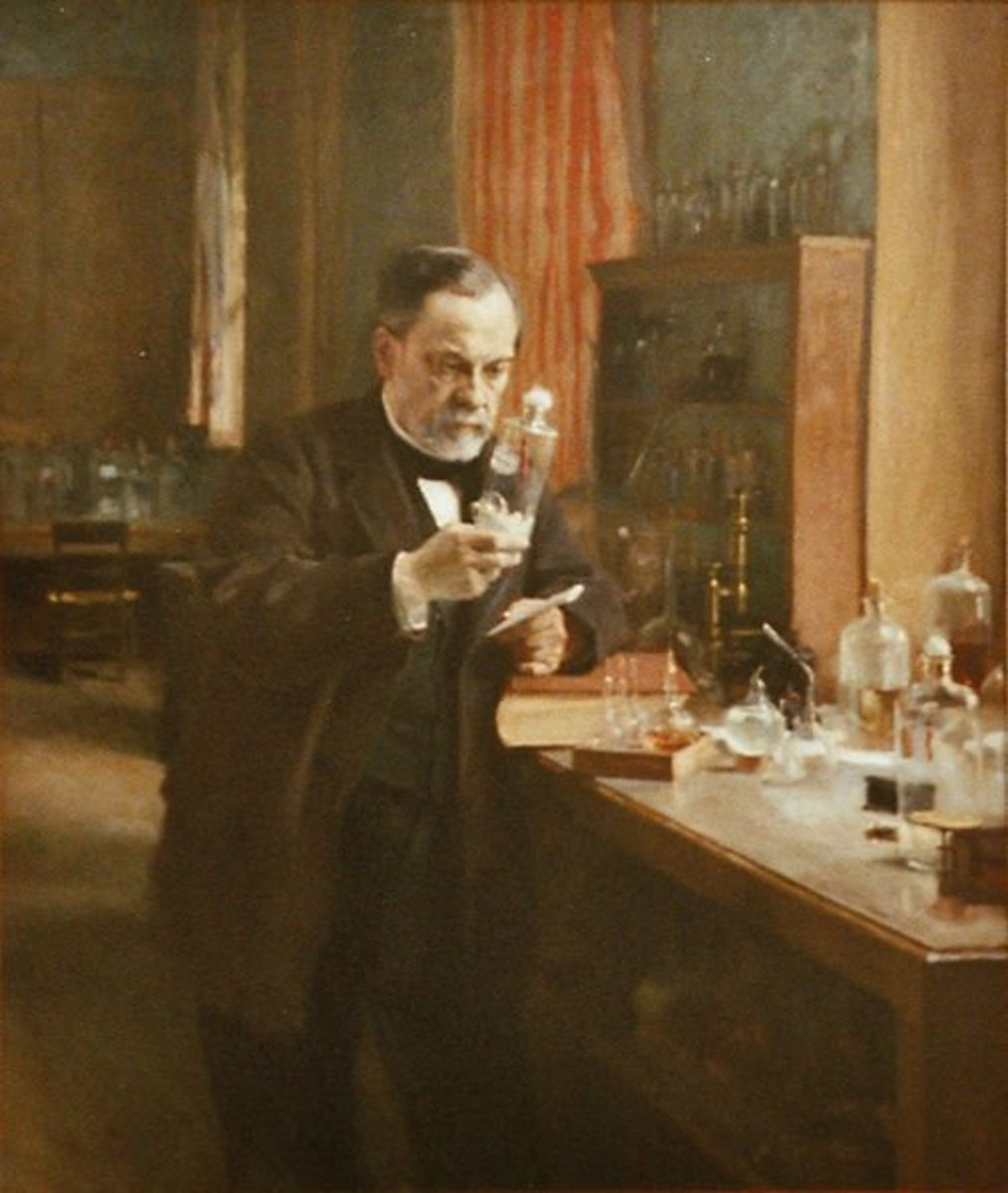 Louis Pasteur.  Source:Public Domain.