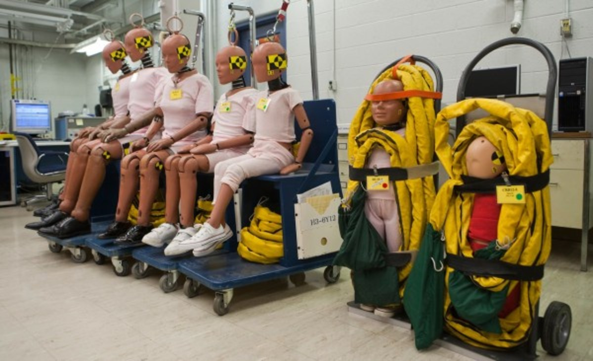 Crash test dummies have allowed aviation and auto manufacturers to greatly improve safety features.