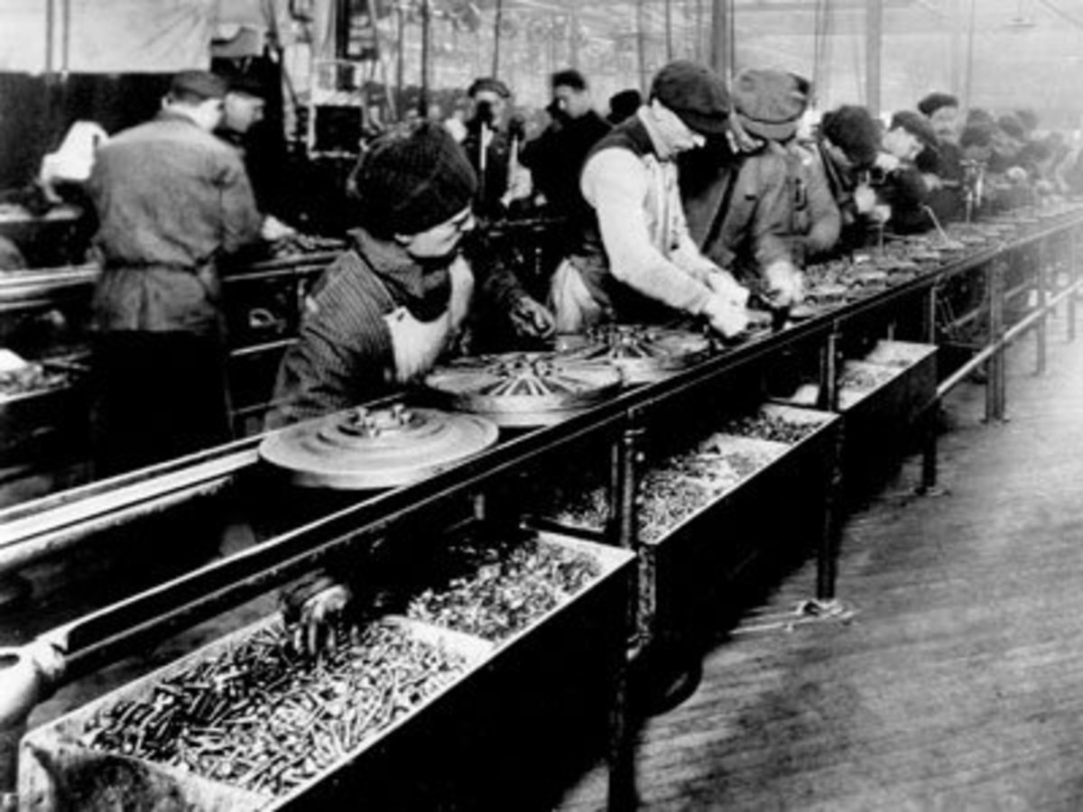 Assembly lines allow products to be produced at a mass scale for a lower price. This allows consumers to purchase products that would otherwise be too expensive.