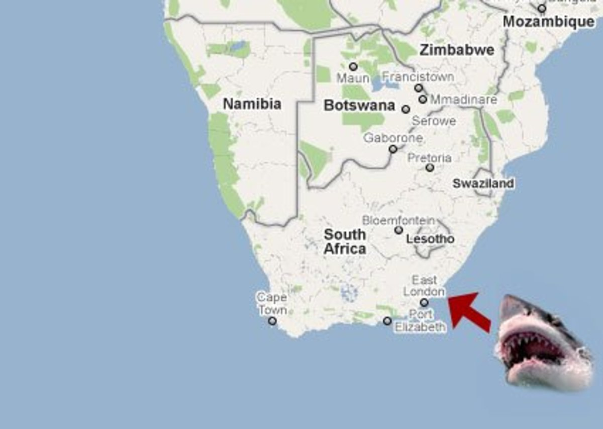 Map showing where is Port St John's, South Africa