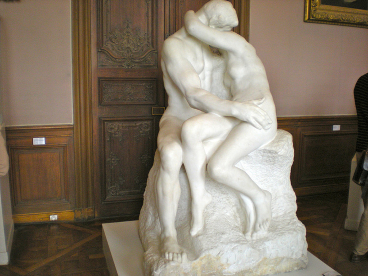 Rodin's The Kiss ... this once-controversial sculpture was finished in 1882 and was originally entitled Francesca da Rimini.