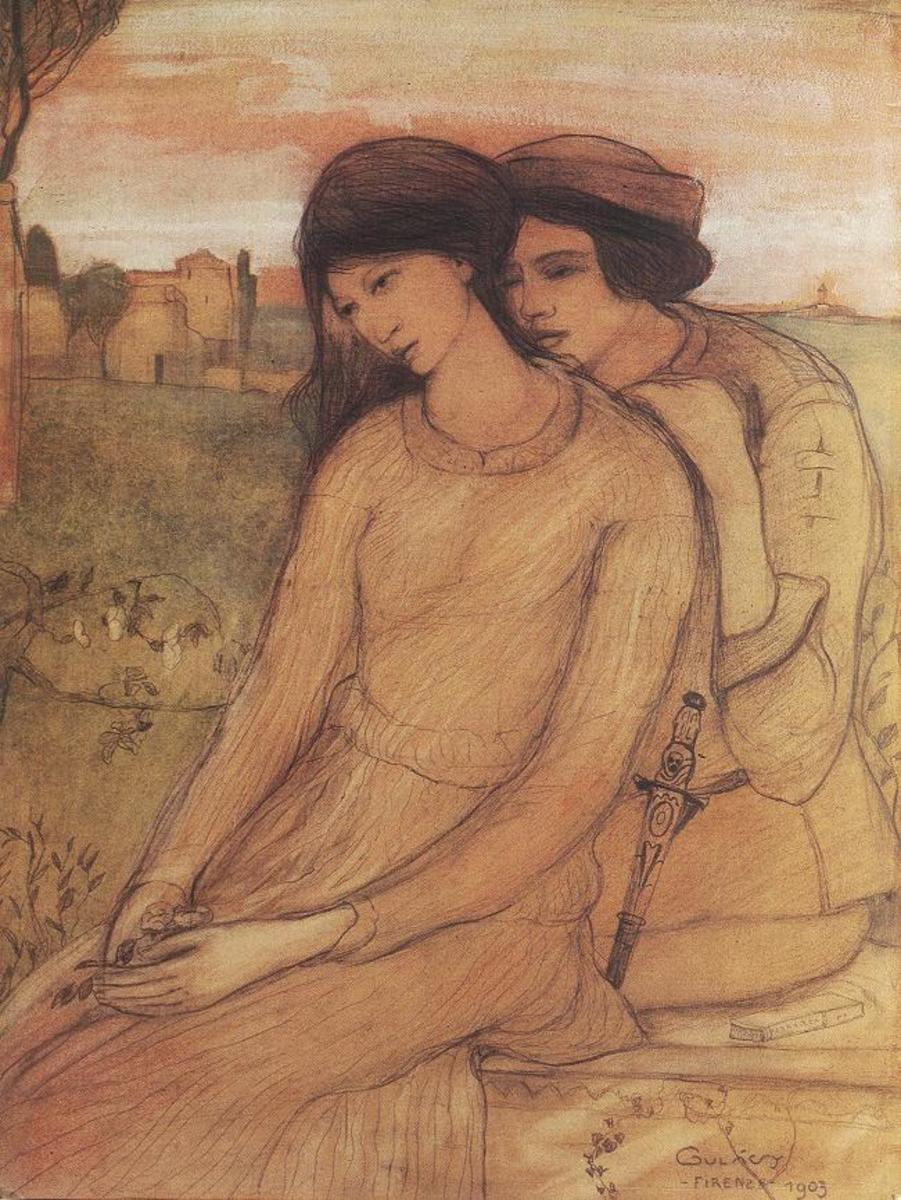 Paolo and Francesca by Lajos in 1903