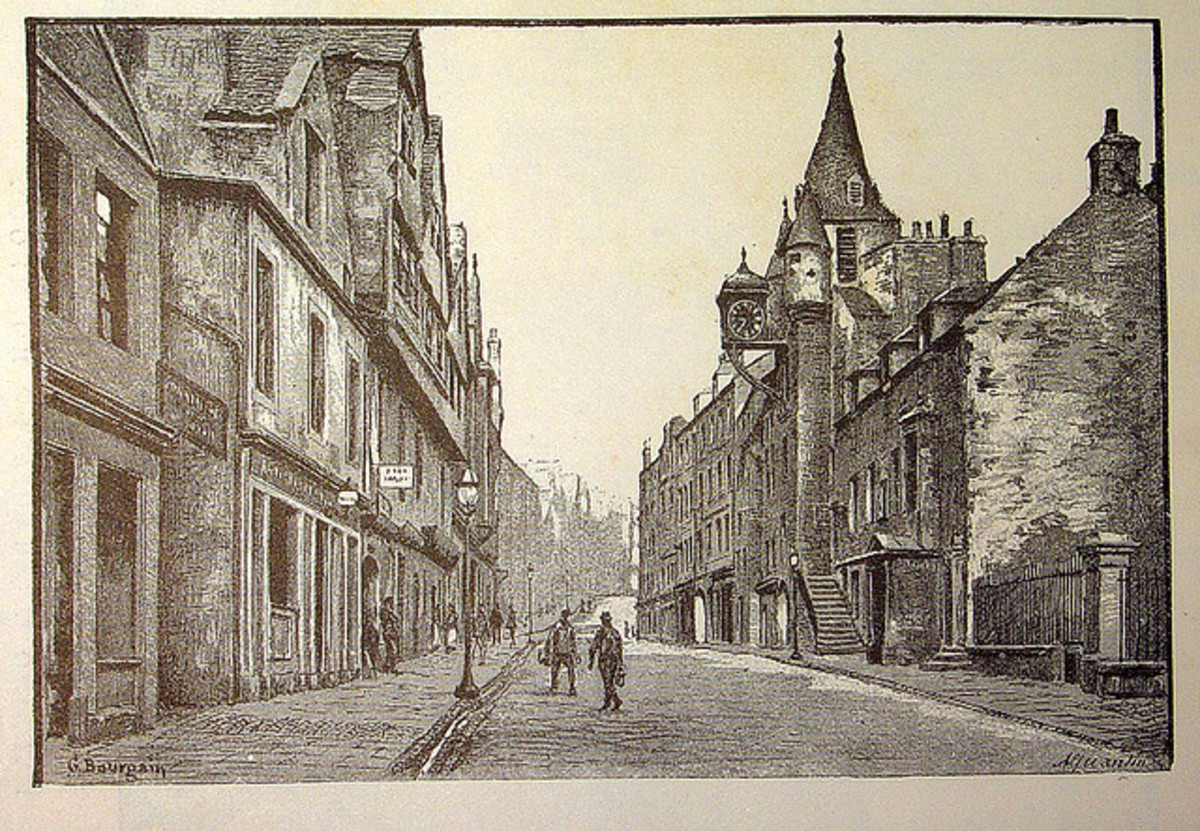 Depiction of the Canongate in 1886