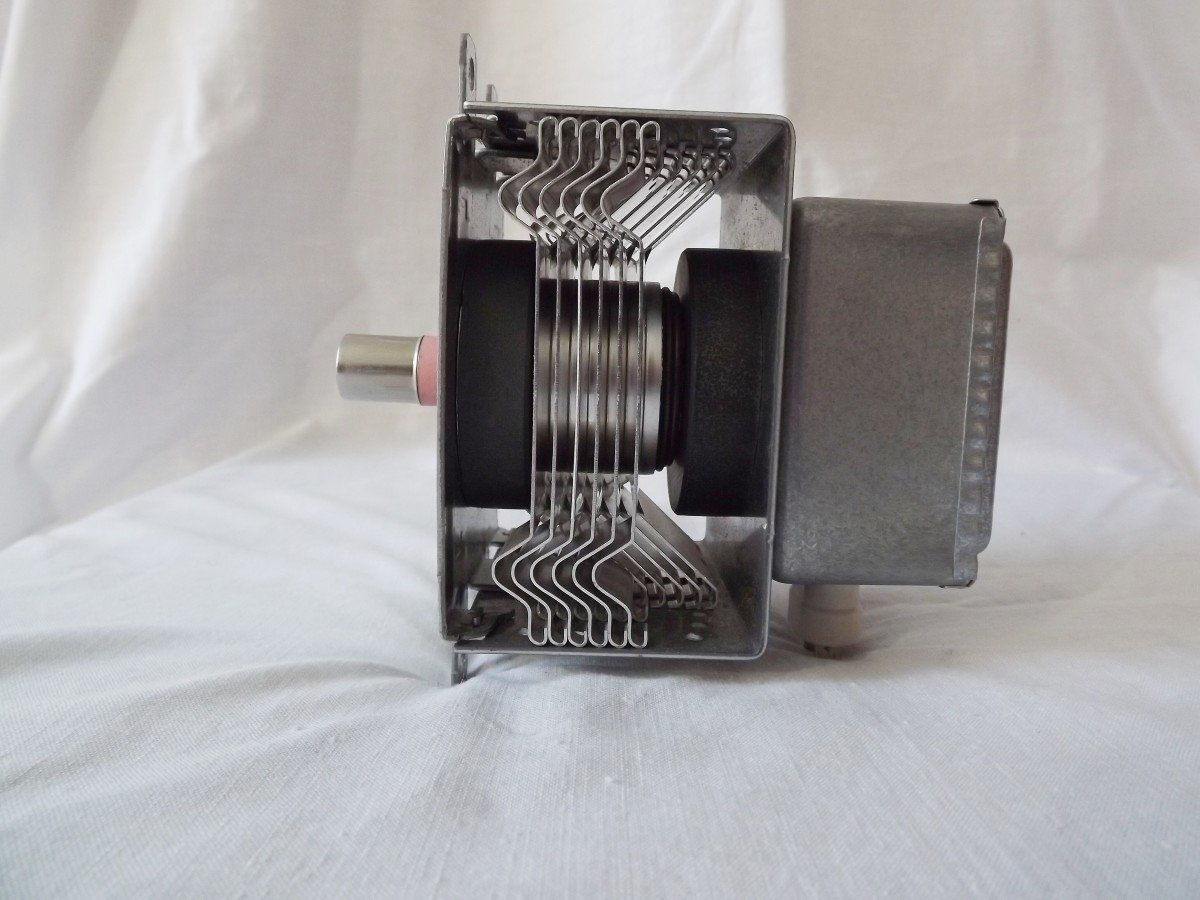 A magnetron viewed from the side
