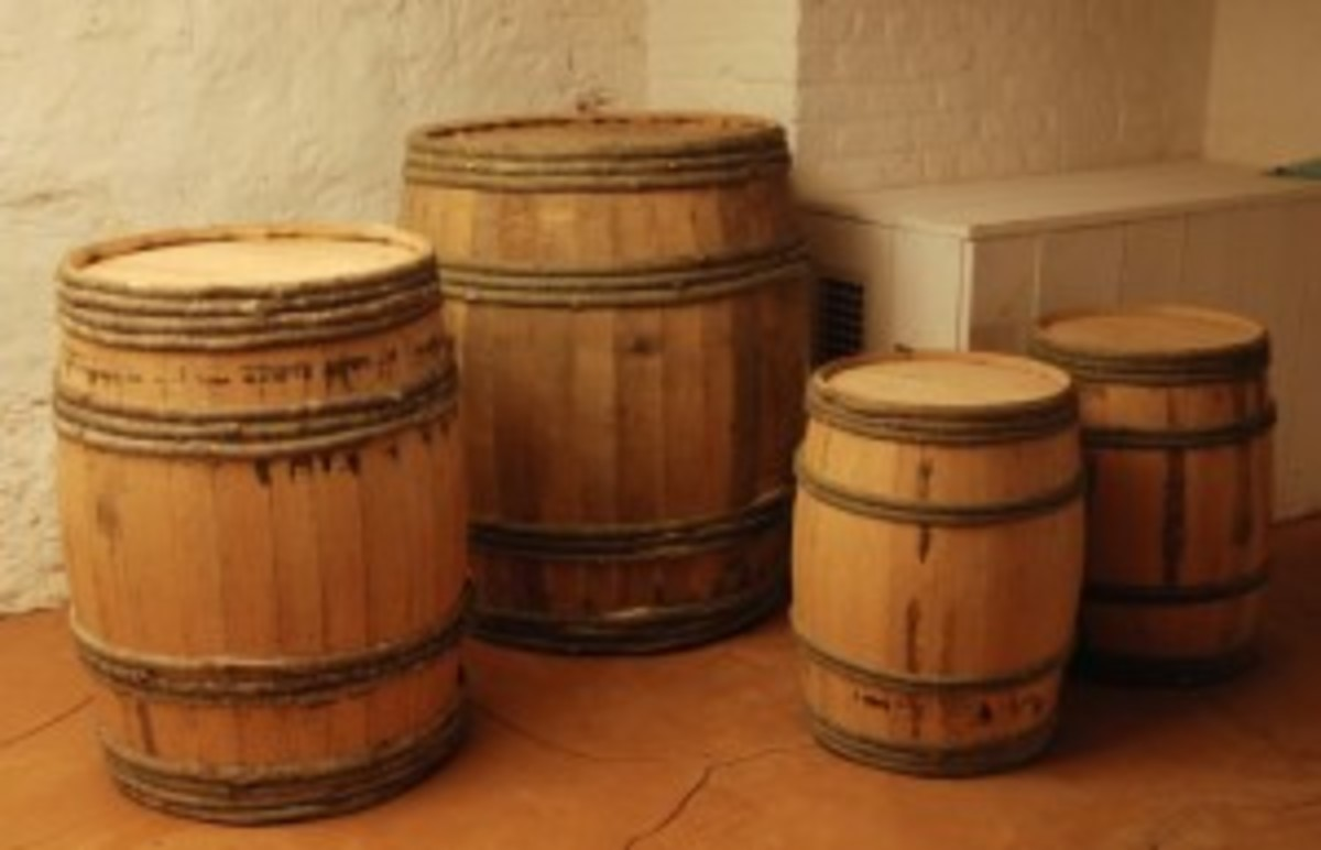 Various casks at Montpelier