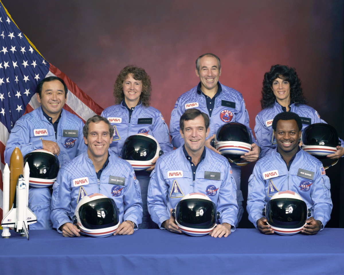 The crew of the Challenger, mission STS-51