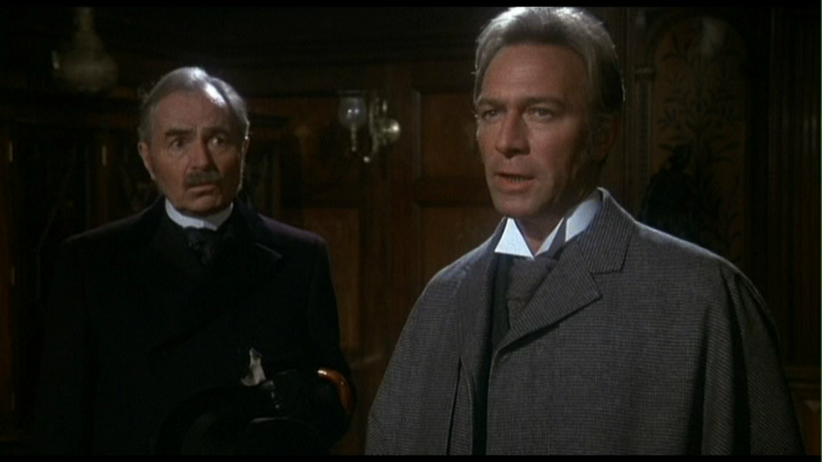 James Mason and Christopher Plummer as Watson and Holmes (respectively) in Murder by Decree