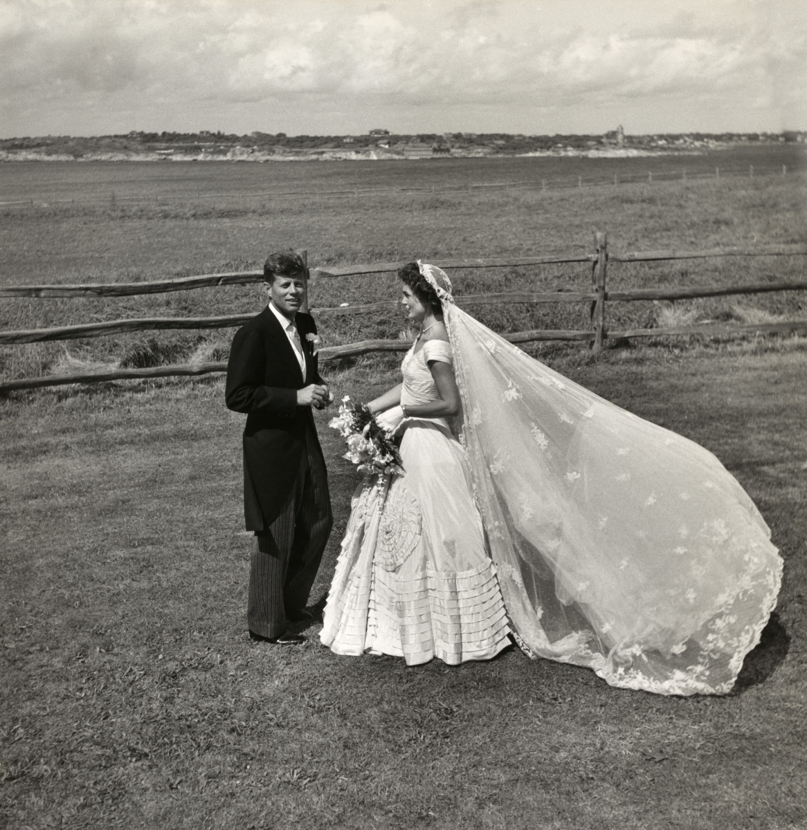 Jackie and Jack Kennedy on their Wedding Day, Rhode Island, 12 September 1953.