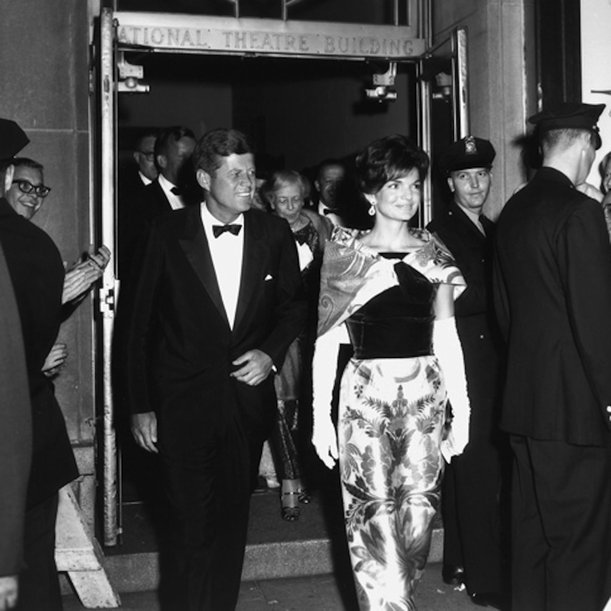 President John and Mrs Kennedy at the National Theatre, Washington DC