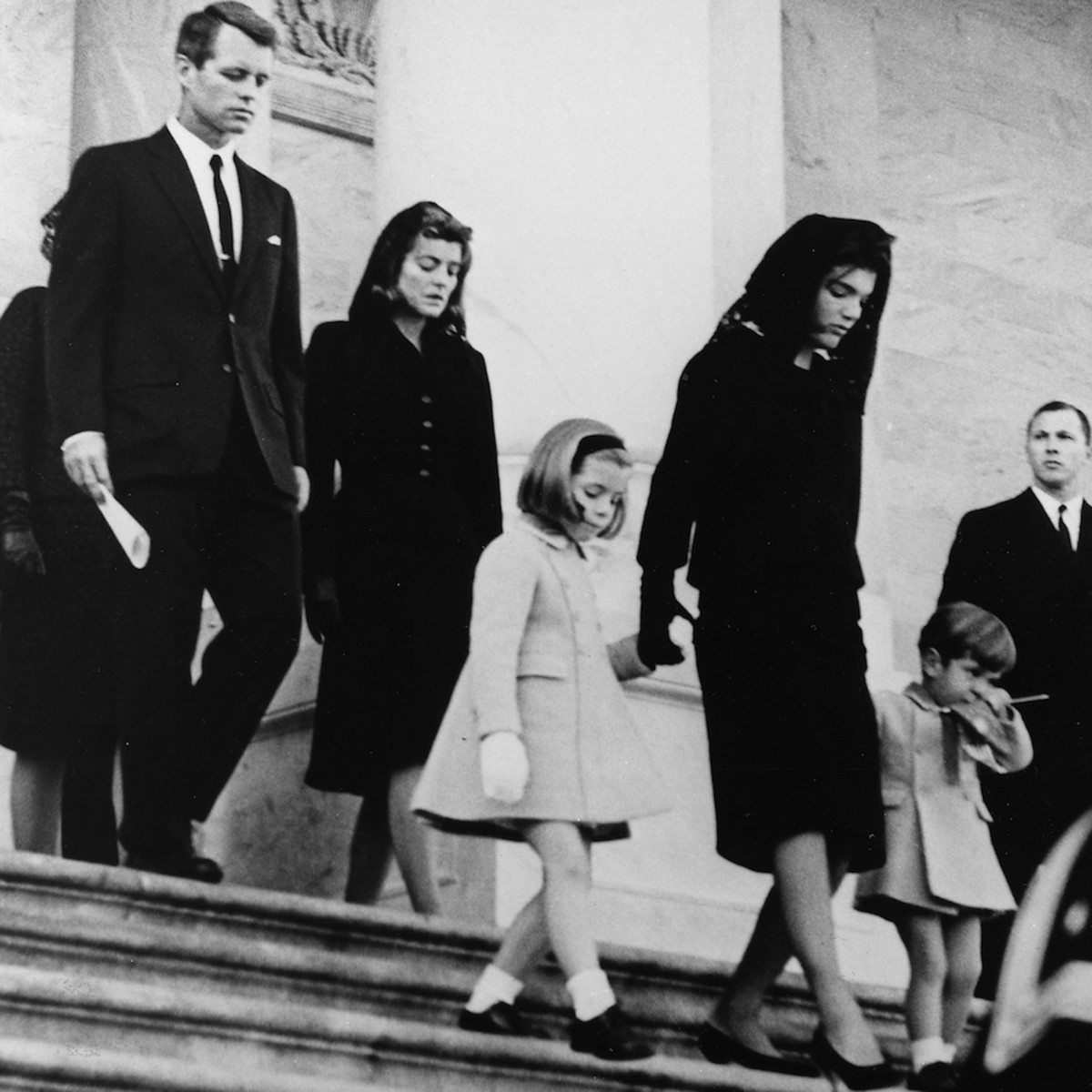 The Family Leaving The Funeral Ceremony of John F. Kennedy, 25 November 1963