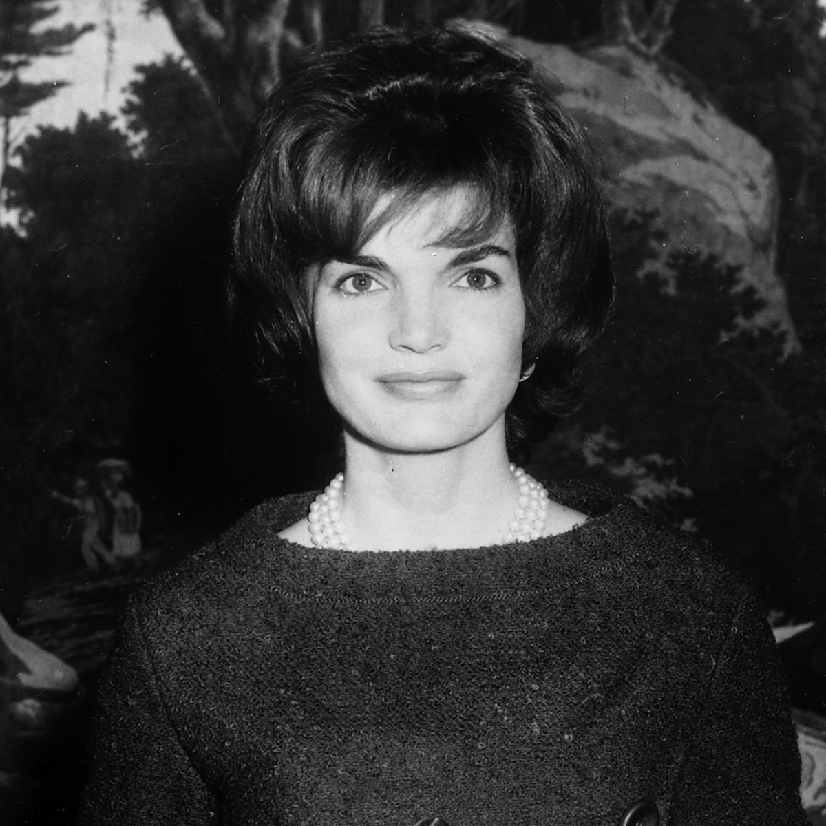 Jackie Kennedy in the White House Diplomatic Reception Room