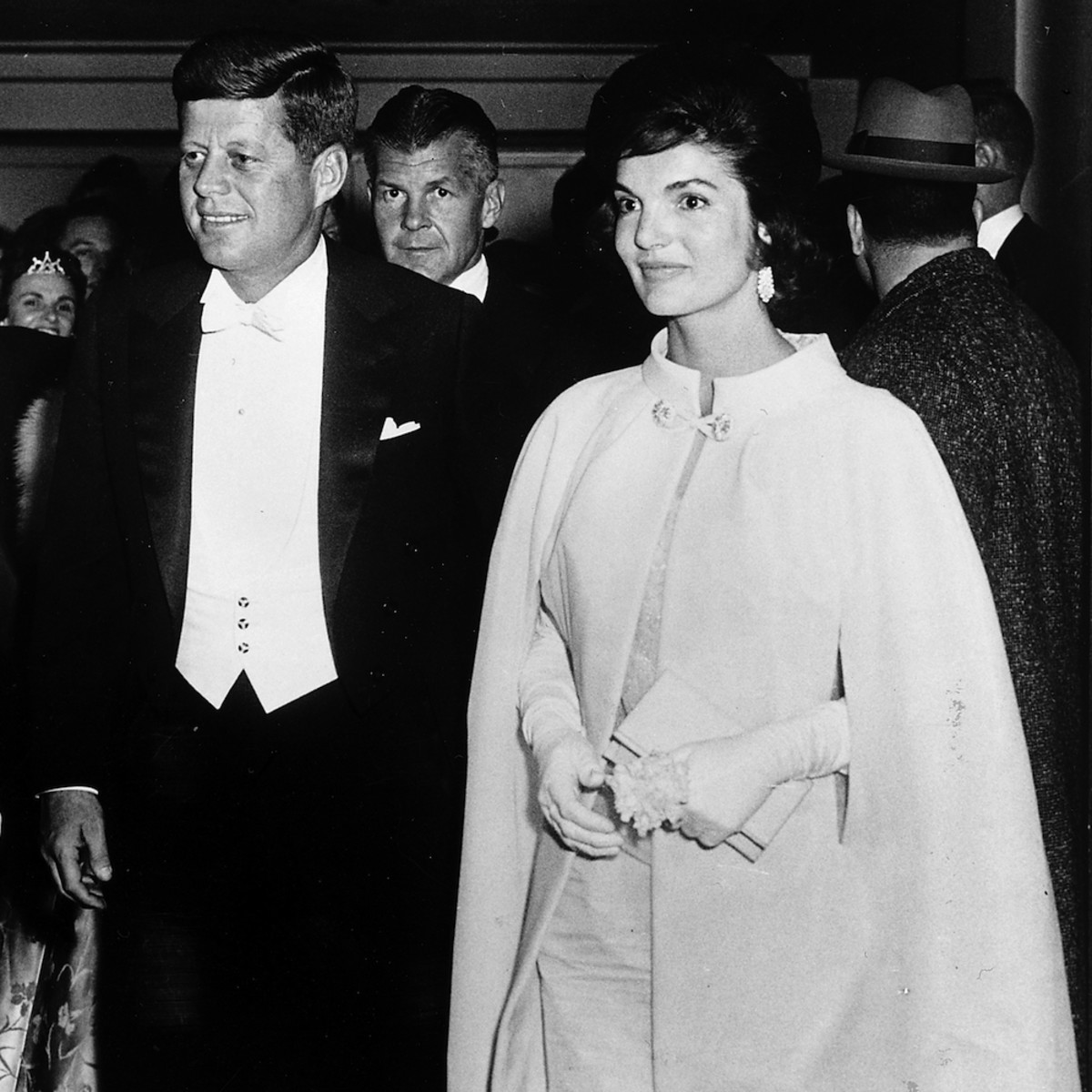 President John and Mrs Kennedy at the Inaugural Ball, 20 January 1961