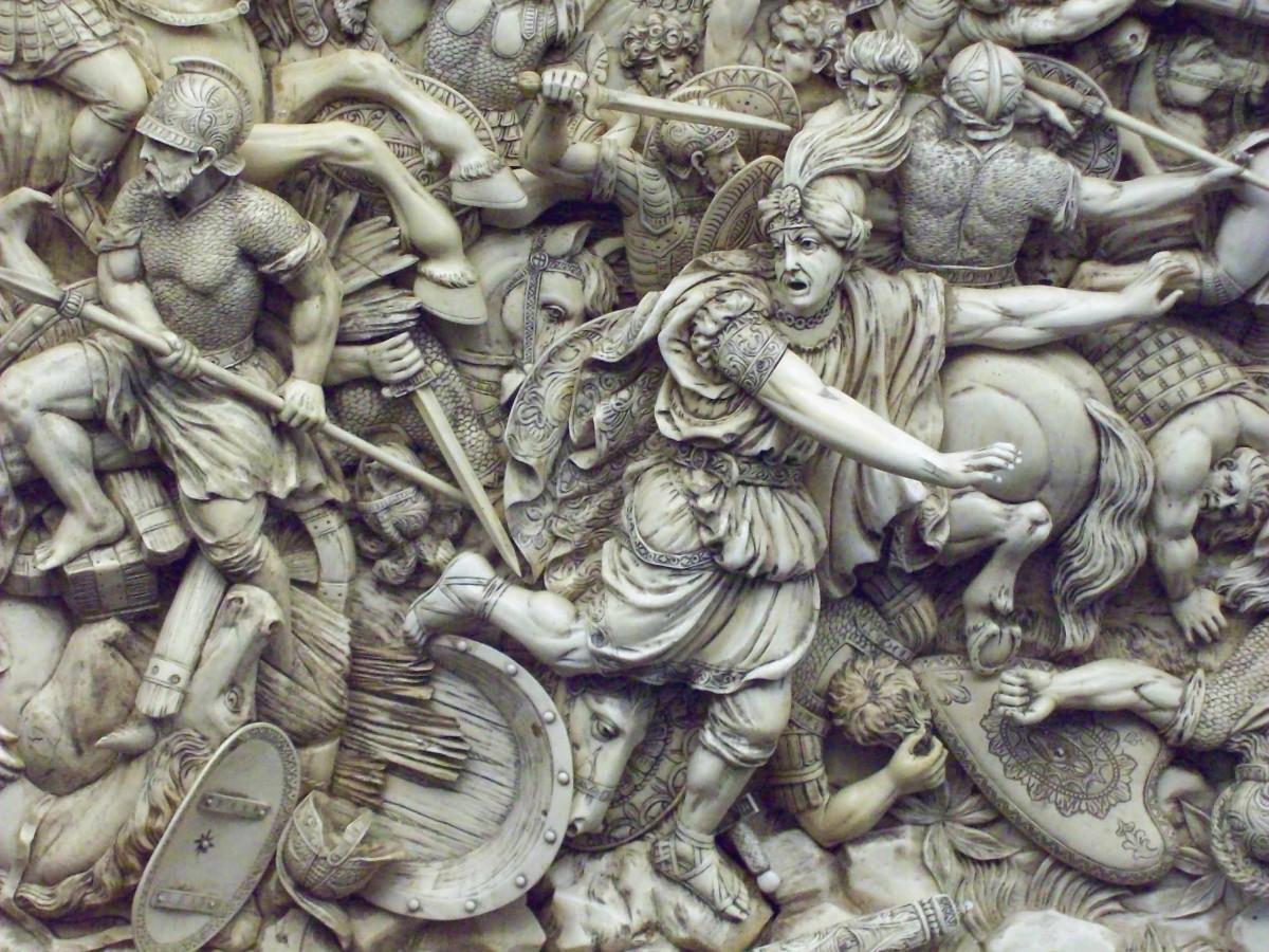 Darius fleeing the Battle of Gaugamela