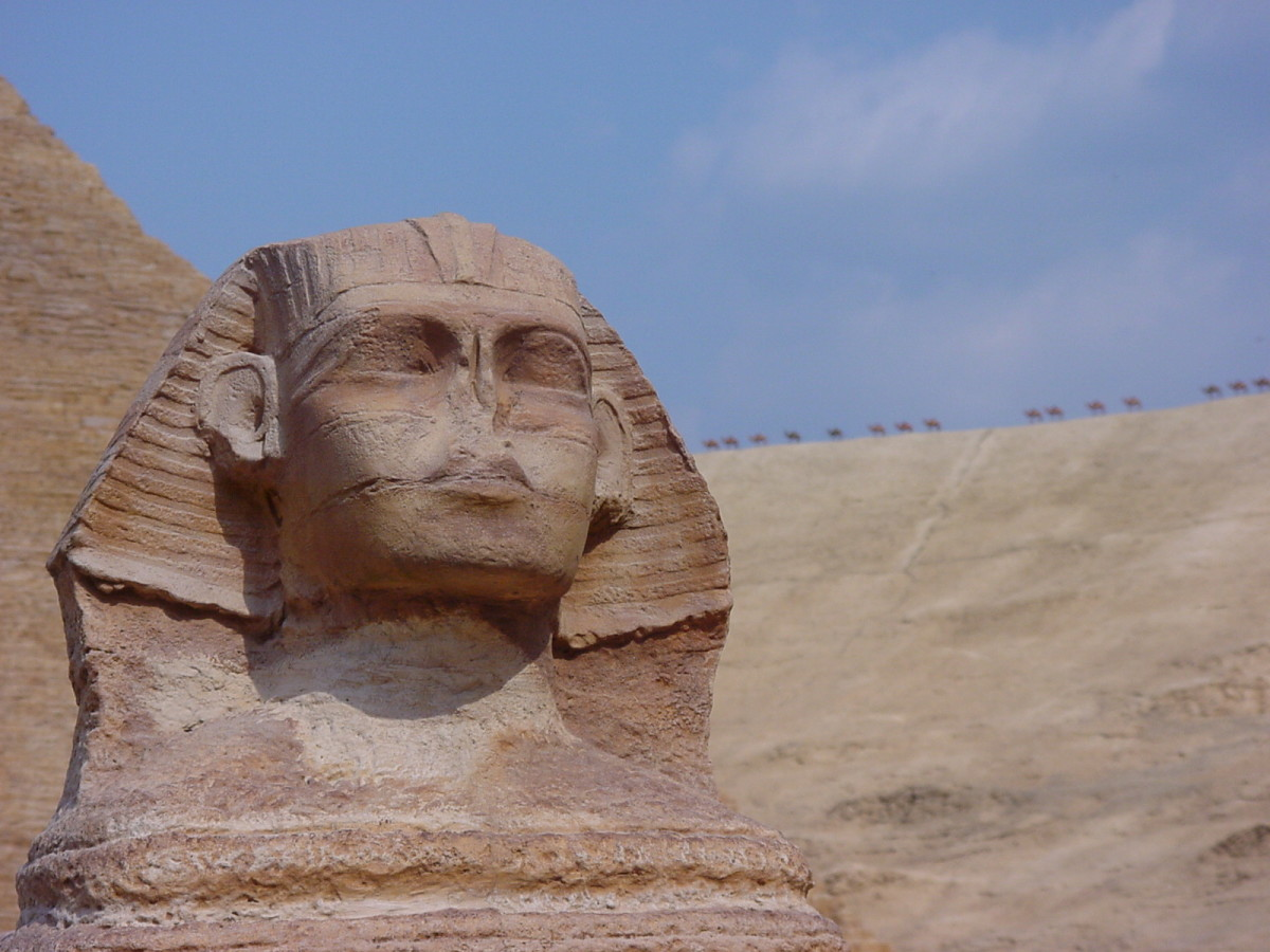 The Sphinx is one of the most famous statues built during ancient Egypt.